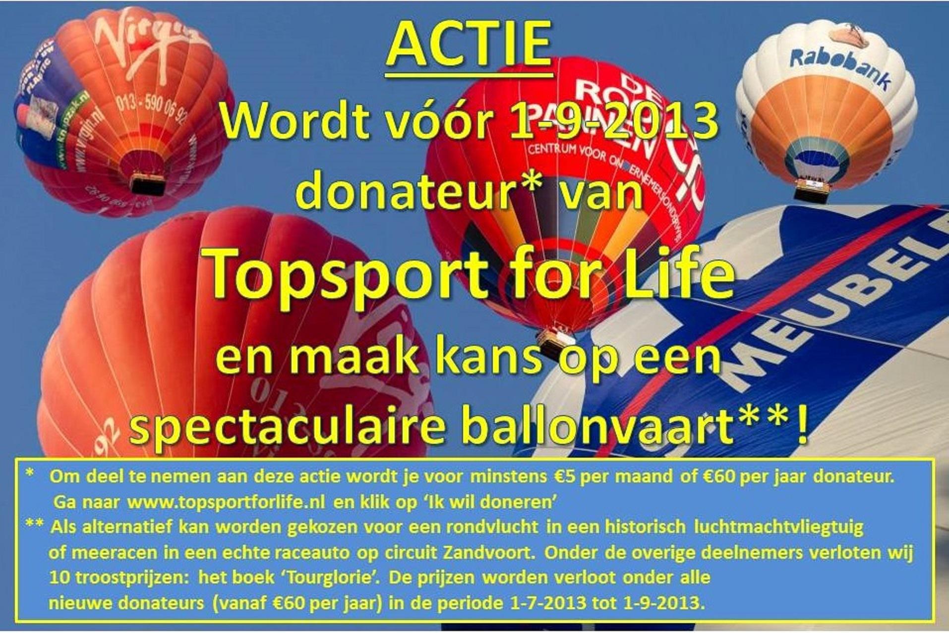 Banner donateursactie 2013