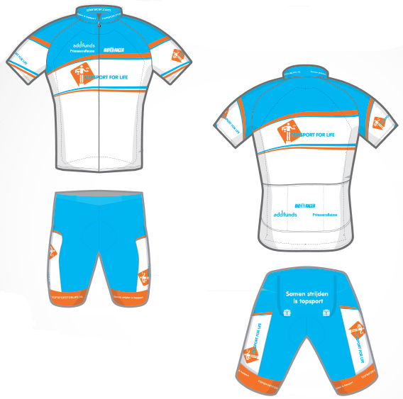 Wielertenue Topsport for Life 2014
