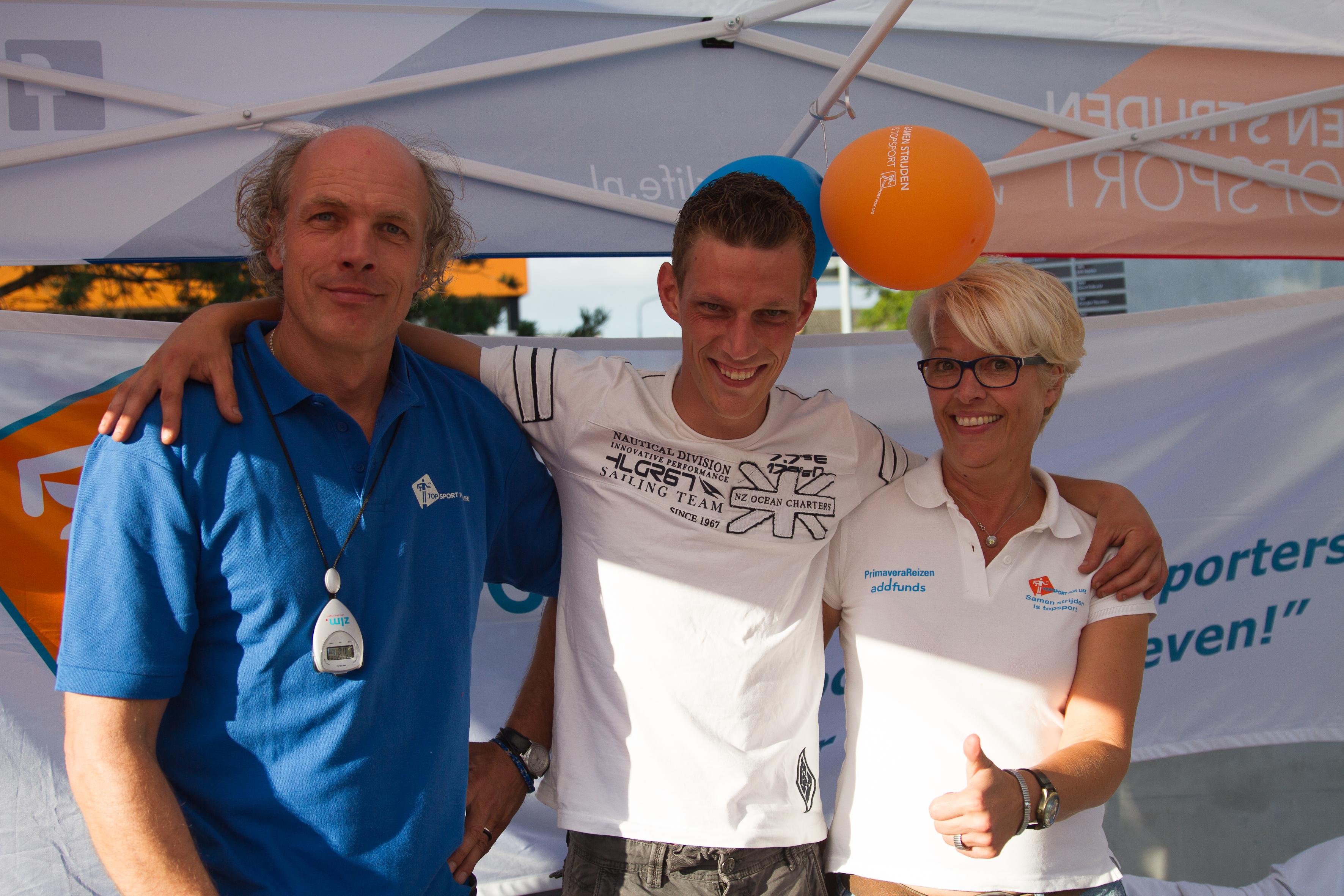 V.l.n.r. Bart van Gerwen, Joost van Riel en Nita van Vliet