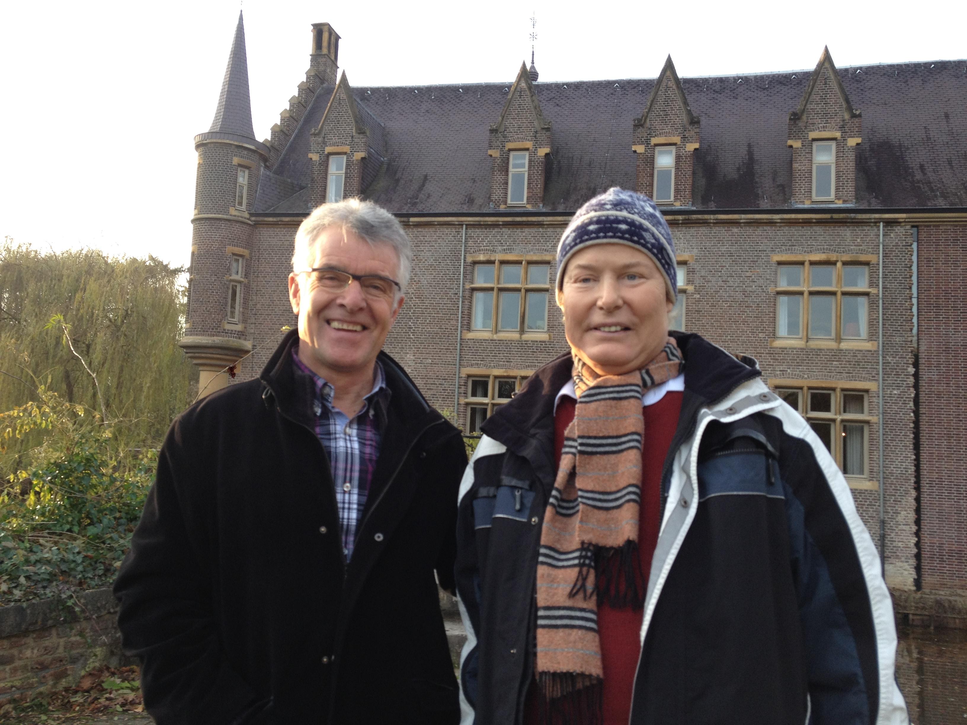 Opnames video 'Samen Strijden Is Topsport', Henk met zijn buddy Sef Vergoossen