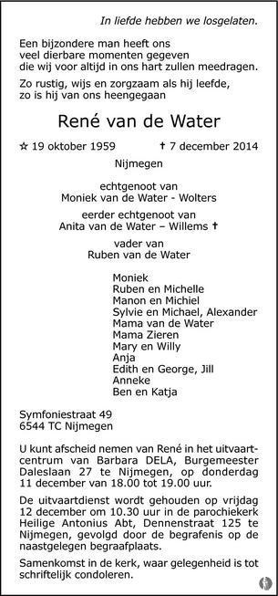 20141210 - Topsport for Life - Overlijdensbericht De Gelderlander - René van de Water - 01