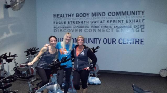 20141216 - Topsport for Life - Spinnen met Yolanda en Christina