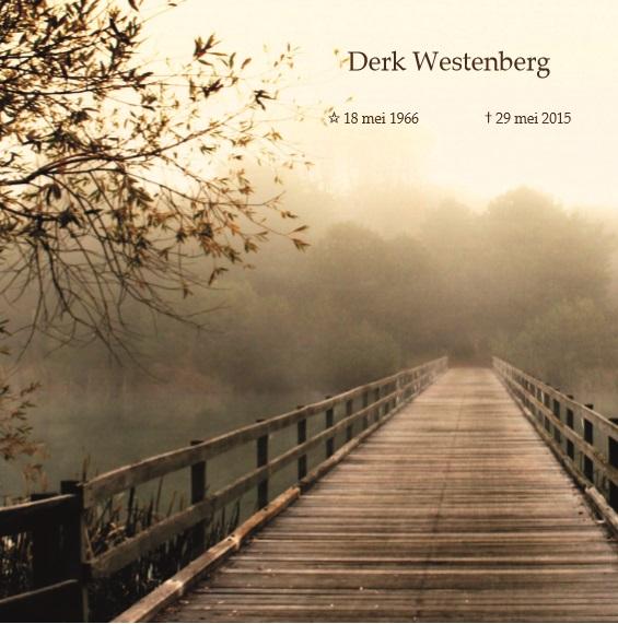 Topsport for Life - Overlijdensbericht Derk Westenberg - voorkant