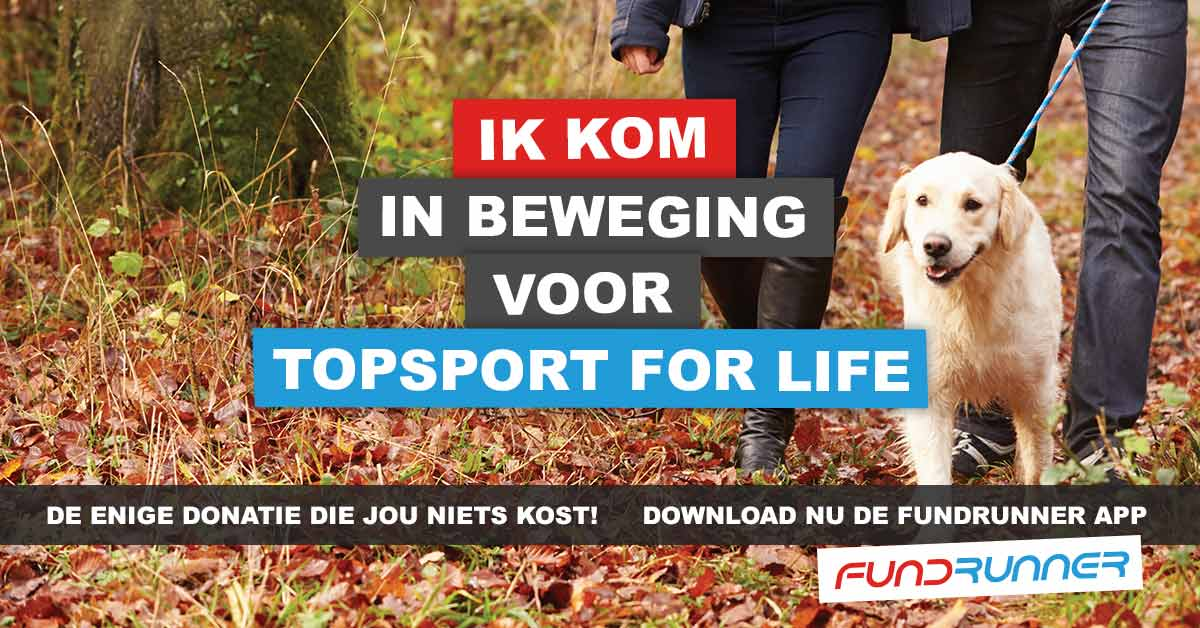 Topsport for Life - Fundrunner Campagne april 2016