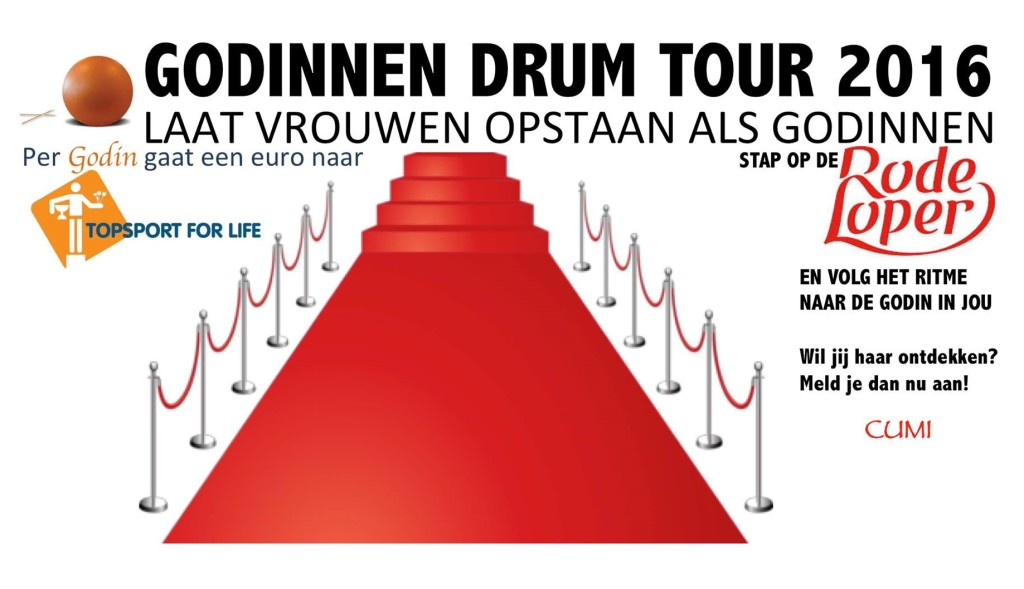 Topsport for Life - Banner Godinnen Drum Tour 2
