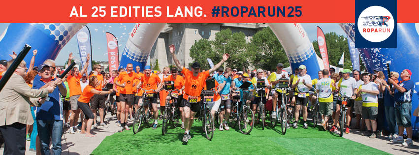 Topsport for Life - Banner Roparun 25 jaar