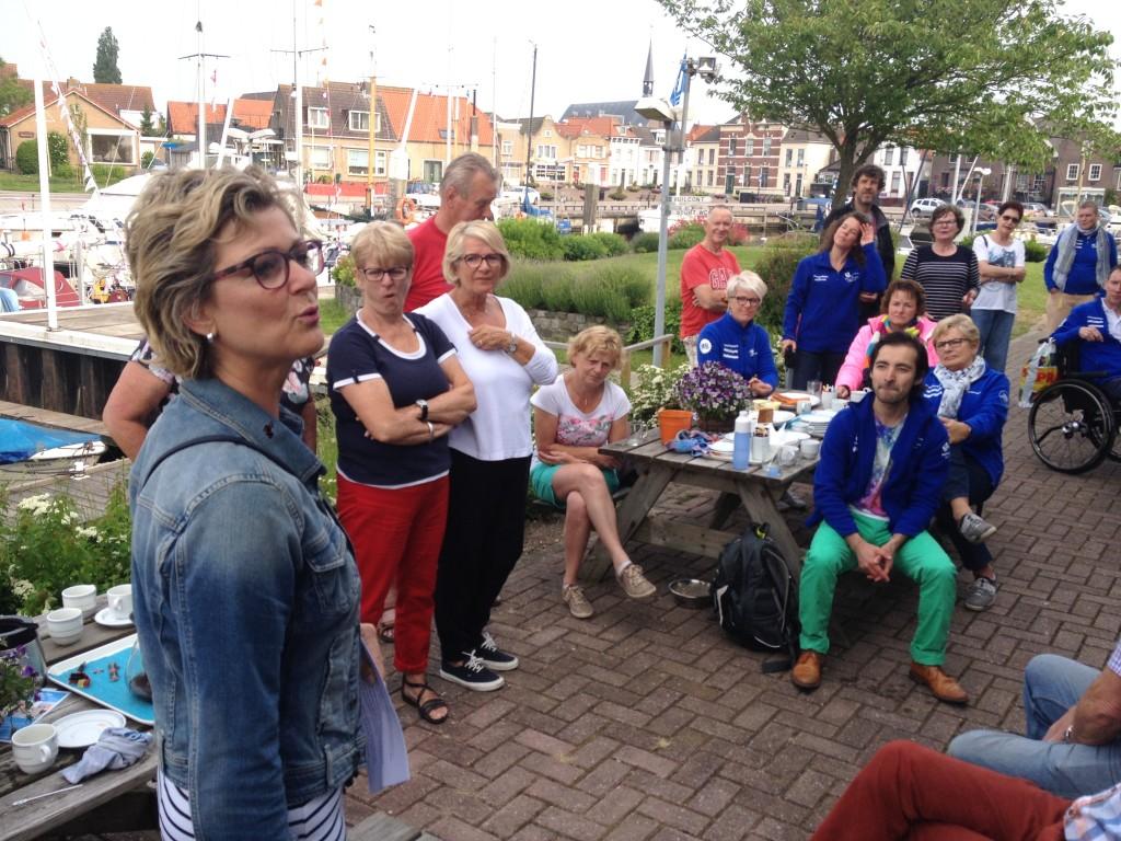 Topsport for Life - Samen voor de wind - Burgemeester Ada Grootenboer spreekt de deelnemers toe
