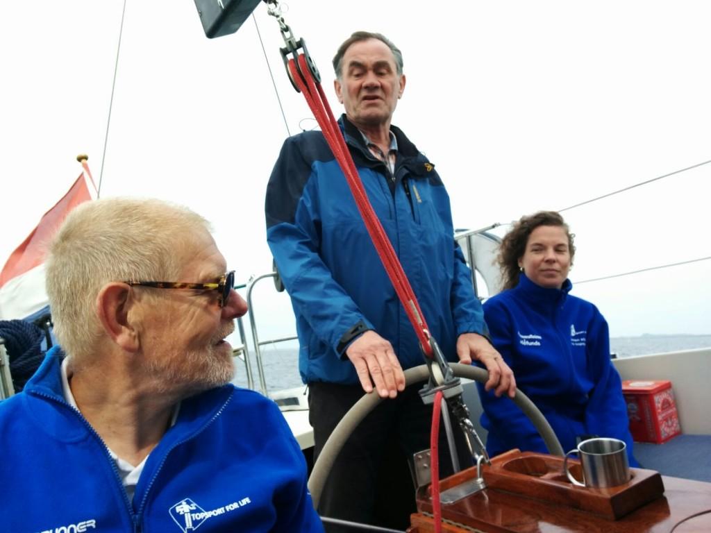 Topsport for Life - Samen voor de wind - Kankerpatiënt Dirk aan het roer