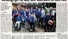 20160629 - Artikel Veldhovens Weekblad over Topsport for Life
