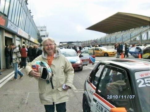 Stoere Marleen bij 'Racen op Zandvoort'!