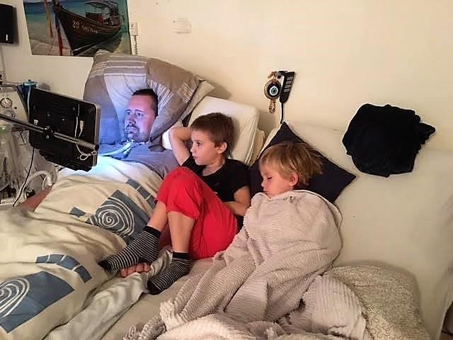 Ronnie met zijn 2 jongens