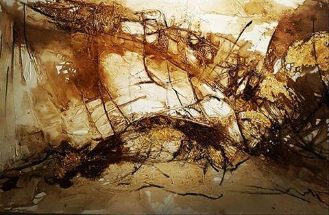 'Golden Leg', 160 x 100cm