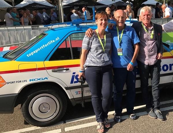 Frans met dochter Desiree en tweevoudig winnaar op Alpe d'Huez, Peter Winnen - STER ZLM Tour 2017