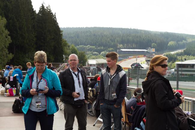 Samen naar de F1 Grand Prix van België, augustus 2014.