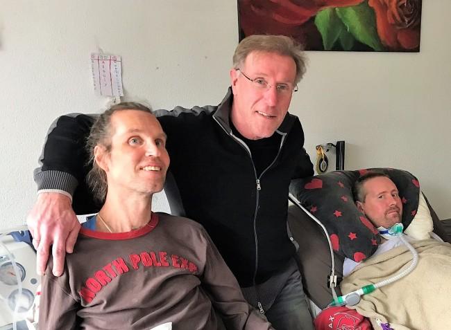 Frank, Hans van Breukelen en Ronnie Möller. Maart 2018.