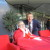 Daniëlle samen met Ajax-directeur en voormalig topkeeper Edwin van der Sar op de foto.
