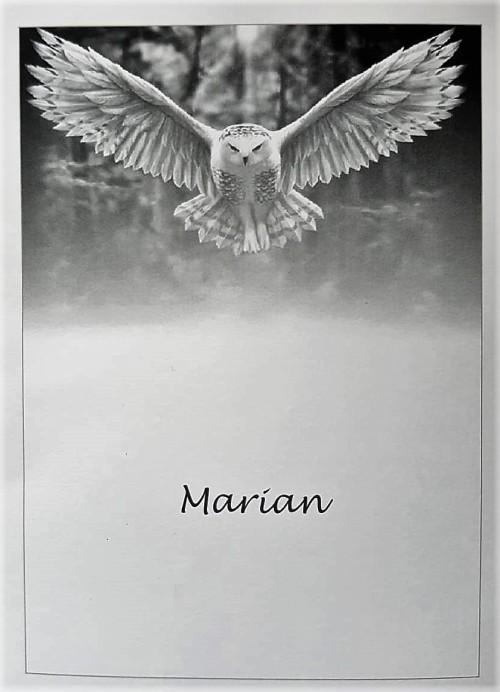 Topsport for Life - Rouwkaart Marian Kleijn - voorzijde