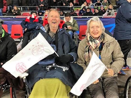 Theo en Ellen naar wedstrijd Ajax in de Johan Cruijff Arena, december 2019
