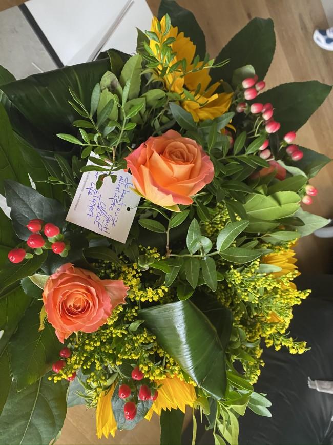 Topsport for Life - bloemen voor Eveline Haegeman